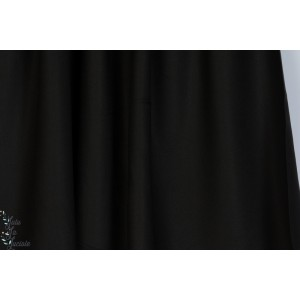 """Tissu """"Crêpe Black"""" noir couture femme mode été atelier brunette"""
