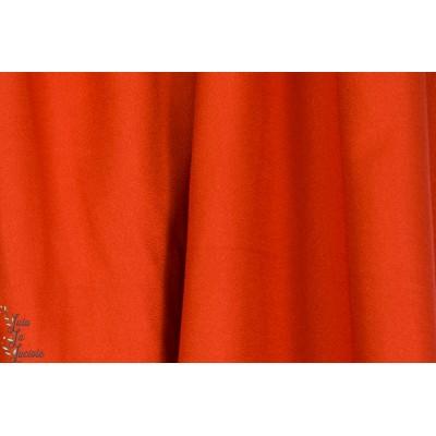 """Tissu """"Crêpe Tangerine"""" atelier brunette couture mode femme été rouge"""