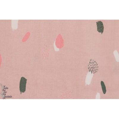 Viscose Moonstore pink rose graphque atelier brunette couture mode femme