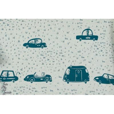 Jersey Bio Autos, meliert, Design: Susanne Bochem/ SUSAlabim pour lillestoff