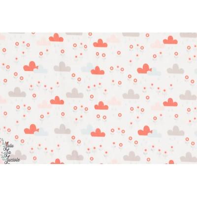Popeline bio Good Summer Rain Sable copenhagen print factory nuage patch plaid quilt