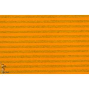 Jersey Bio Rayé gris/moutarde lillestoff