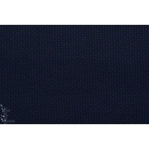 Viscose Jersey knit bleu Lillestoff effet tricot maille marine
