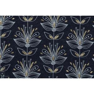 Jeansflower lillestoff fleur paillette femme strech