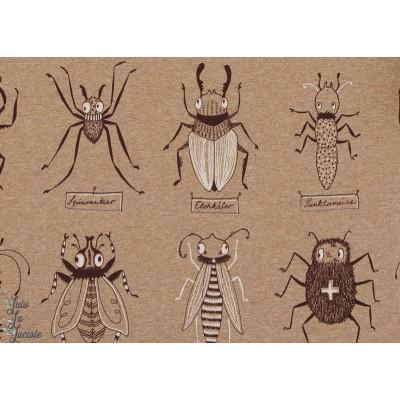 Jersey Bio Insectes sur fond Sable Design : SUSALabim pour Lillestoff