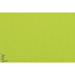 Popeline unie soft cactus vert lime coton uni