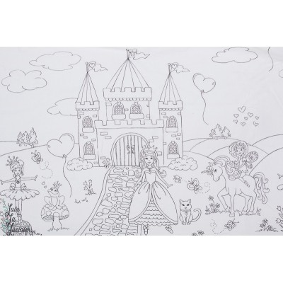 Popeline color me : A royal Life coloriage diy princesse chateau licorne michael miller