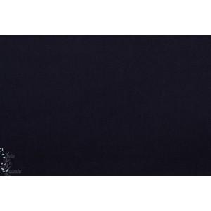 Popeline Unie Bleu très foncé Soft cactus marine nuit