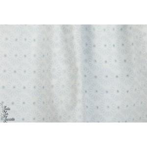 Popeline coton   Marguerites ajourées - blanc kokka