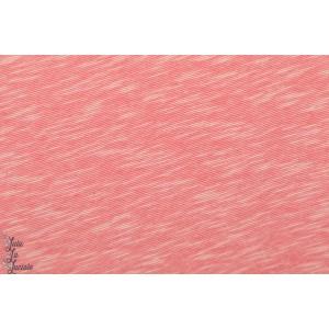 Slub Jersey rose chiné Lillestoff coton formig léger été