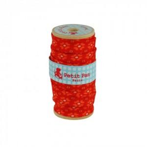 Biais bobine bois 2.5 m Jalila orange Petit Pan