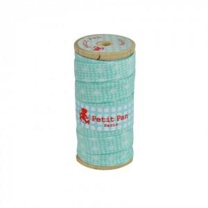 Biais bobine bois 2.5 m Yamila bleu Petit Pan