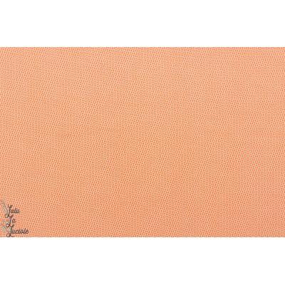 Popeline coton Petit Pan Chardon Orange