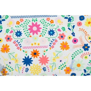 Popeline Mexican Dress Morning fleur couleur art gallery fabric