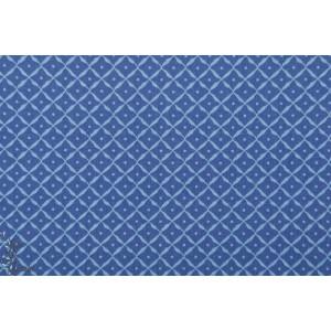 Popeline Chinoiserie Kobalt - AGF - bleu
