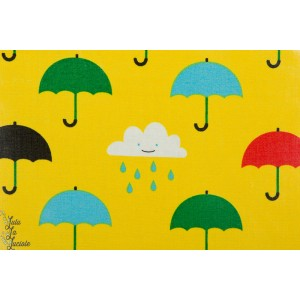 Tissu imperméable Singing in the rain cloud9 jaune