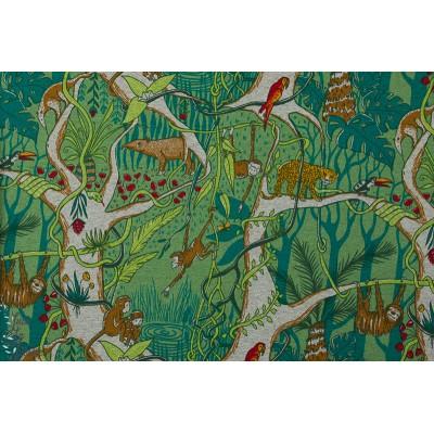 Jersey bio Jungle par SUSAlabim lillestoff jungle animaux