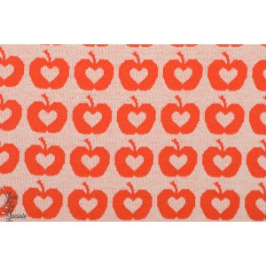 Jacquard Apple Liefde, orange lillestoff pomme vintage