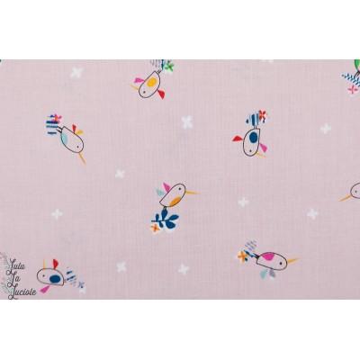 Birds on light pink TROP1253