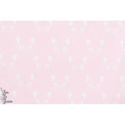Jersey Chats blancs sur fond rose Stenzo