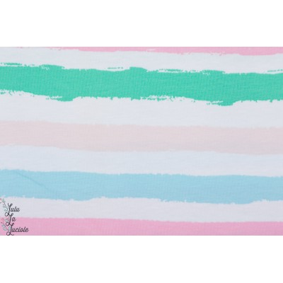 Sommerjersey Stripes 4, mint Lillestoff