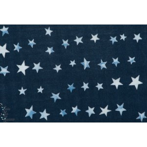 Double Gaze Stars fond bleu Kokka