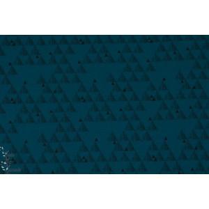 Jersey Bio Shark géométrique  Lillestoff bleu graphique