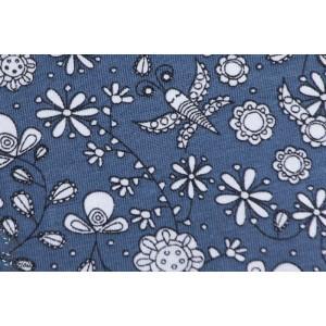 Jersey Bio Fleurs Fantastique Bleu Nuit