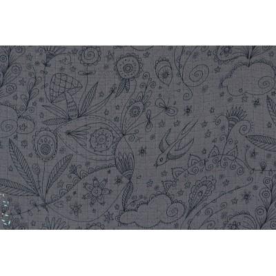 Manga Bambou mousseline grise susalabim lillestoff mode couture