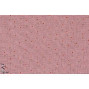 Stars Bambou Mousseline étoille paillette rose femme fille  lillestoff formig