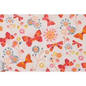 Popeline Dashwood Buutterflies Pink papillon natural trail rose bethan janine