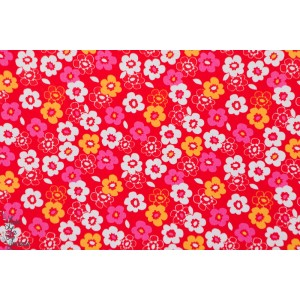 Popeline Dashwood Secret garden SGN1126 sufolk garden coton plaid rouge vif fleur