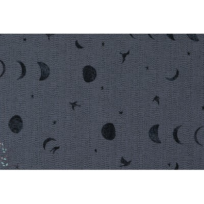 Moons Stars et Swallow Blue on Blue popeline jean  kokka