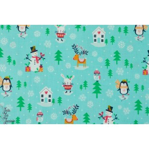 Popeline Dashwood Snowman MERR1221 noel bonhomme de neige couture enfant
