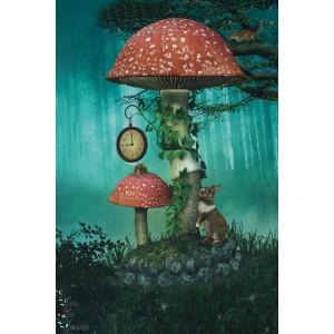 Panneau Jersey Forêt enchantée Stenzo champignon animaux enfant couture