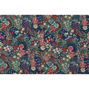 Liberty of london  elderberry batiste coton tana lawn fleur bleu