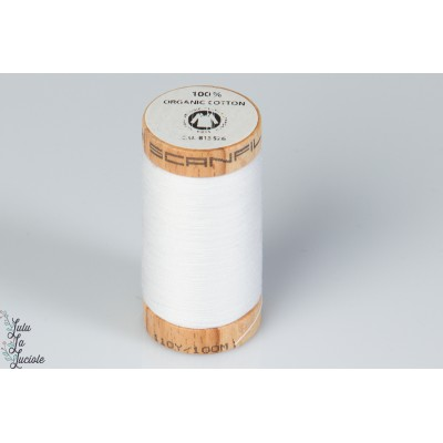 Fil organique scanfil blanc 4800 bio