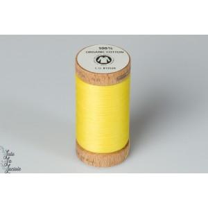 Fil   organique Scanfil jaune 4803 bio bobine bois naturel