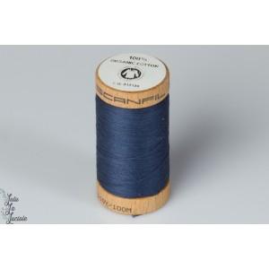 Fil organique Scanfil Marine 4815 BIO gotts bobine bois bleu naturel touot coudre