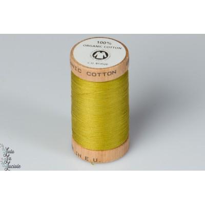 Fil organique Scanfil 4823 kaki jaune vert gots bio bobine bois olive