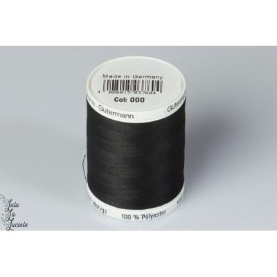 Fil Guterman 1000 m noir 000 polyester tout coudre
