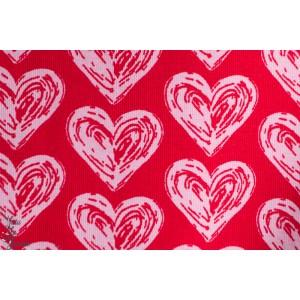 Jersey Bio Coeurs rose