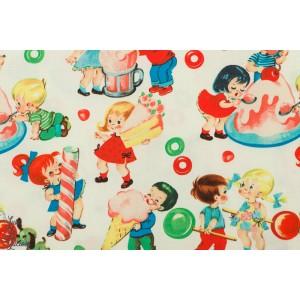 Popeline Candy Shop Michael Miller vintage rétro enfant bonbon couture
