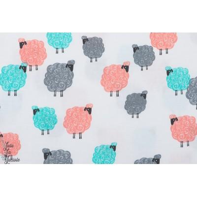 Popeline BAA BAA BABY mouton couleur michael miller coton couture enfant