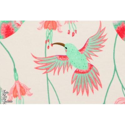 Jersey Strech colibri écru