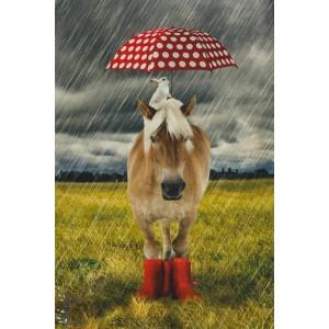 Panneau Jersey  Poney Stenzo cheval parapluie lapin botte rigolo