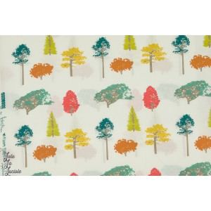 Popeline bio BIRCH arbres