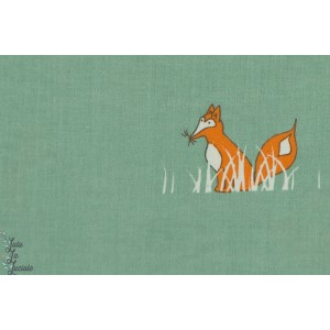 Popeline bio  renard BIRCH SLY FOX