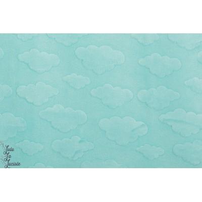 Minky Nuage bleu Michael Miller doux bébé bleu texture relief cloud velours