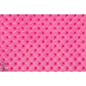 Minky polaire à pois rose minkee doux chaud pink fille